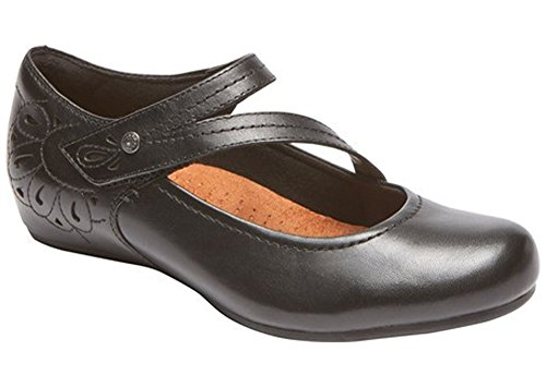 Cobb Hill by Rockport Womens sharleen Mary Jane Black Ithr Flat - 10 M by  Rockport