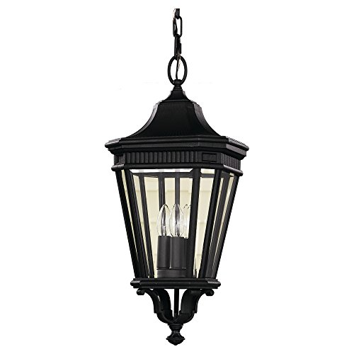Pendant Outdoor Lane Cotswold (Feiss OL5411BK-LED Cotswold Lane LED Outdoor Pendant Lantern, 1-Light, 14watts, Black (10