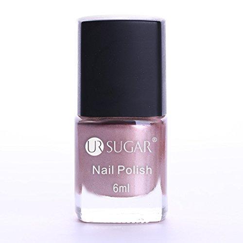 6Ml Mirror Effect Metallic Nail Polish Nail Art Varnish For Nails pink