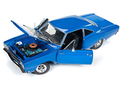 1968 Plymouth Road Runner Electric Blue Looney Tunes Class of '68 Limited Edition to 1002 pieces Worldwide 1/18 Diecast Model Car by Autoworld - Roadrunner Model