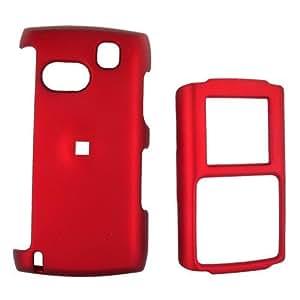 For Samsung Comeback Rubberized Hard Plastic Case Red