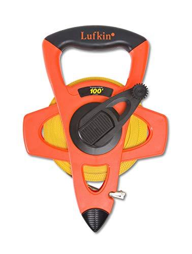 Lufkin FE100D Hi-Viz Linear Open Reel Fiberglass Engineers Tape - 3/4-inch X 100-foot ()