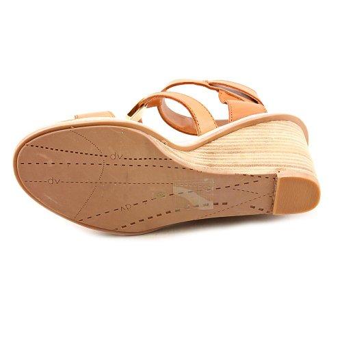 Dv Av Dolce Vita Womens Cecily Wedge Sandal Brunt Läder