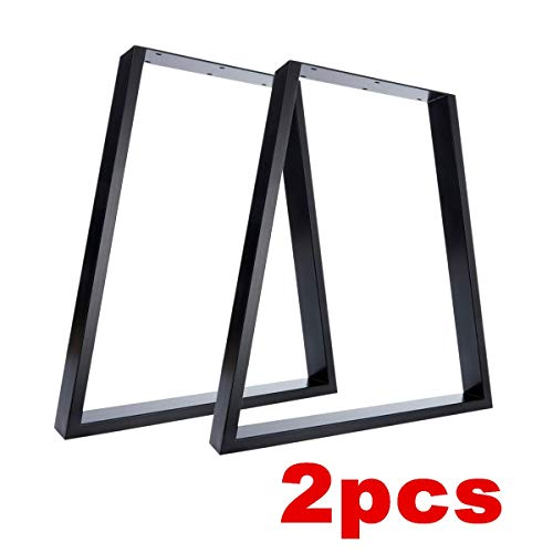 Nisorpa Metal Table Legs Trapezoid 2pcs Heavy Duty Solid Steel Industrial Bench Support Feet for Dinning Coffee Computer Desk Office Furniture Legs Replacement 28inch