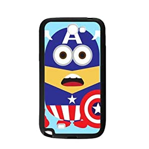 Performance Designed Products Minions&Captain America Case for Samsung Galaxy Note2 N7100 (Laser Technology)