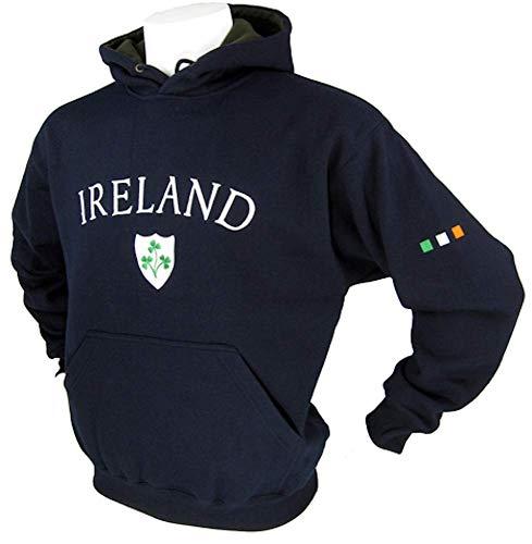 Malham Ireland Hoodie Pullover Sweater (2XL, Navy)