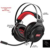 Pro Gaming Headset with Mic (Universal) Video Gamer Wired Headphones   Xbox One, PS4, PC, Laptop, and Mobile Device Compatible  Stereo Sound, 3.5mm Connection   HC Gamer Life