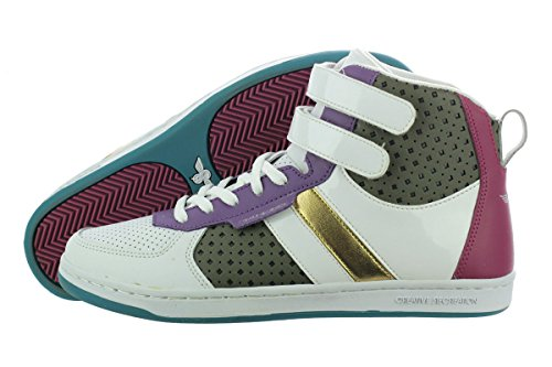 Lo Sneaker The Dicoco - Creative Recreation Dicoco WCR3928-WPMFU Women's Casual Shoes 8 B(M) White/Purple / Fuchsia