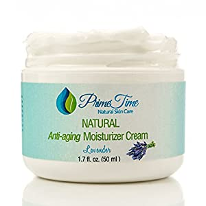PrimeTime The BEST All-Natural Advanced Anti-Aging moisturizer Face Cream |Pure Hyaluronic Acid Rich with Avocado | Lavender Essential Oil | Vitamin E. Anti Aging Formula Reduces Wrinkles, Fine Lines