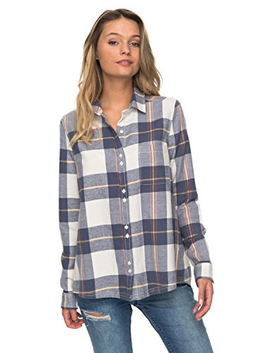 Roxy Womens Heavy Feelings - M Marshmallow Wild Coast Plaid M