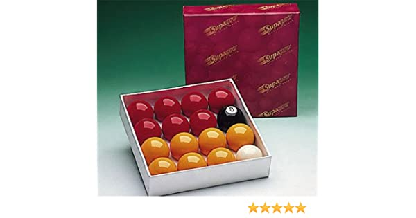 Supapro - Bolas de billar inglés (48 mm, incluye 7 bolas amarillas ...