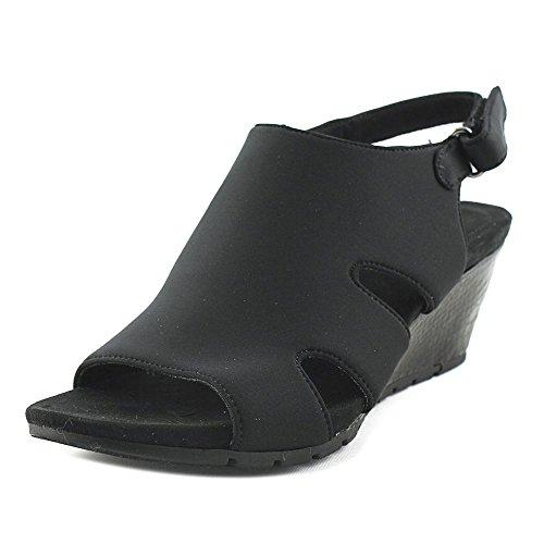 Bandolino Women's Galedale Wedge Sandal, Navy, US Black Lycra