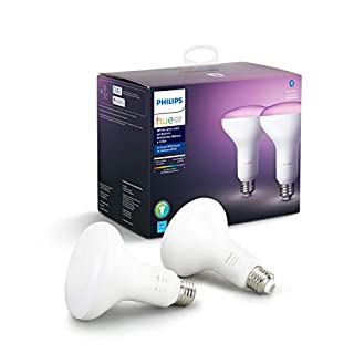 Philips Hue White and Color Ambiance 2-Pack BR30 LED Smart Bulb, Bluetooth & Zigbee compatible (Hue Hub Optional), Works with Alexa & Google Assistant – A Certified for Humans Device