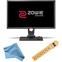 BenQ ZOWIE 27 QHD 2560x1440 LED 144Hz Quad HD Gaming Monitor ~ S-Switch for eSports Tournaments and Professional Players (XL2730), Invisiplug 6-Outlet Surge Protector and Micro Fiber Cleaning Cloth