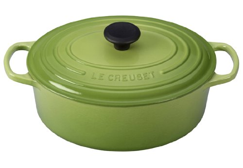- Le Creuset Signature Enameled Cast-Iron 5-Quart Oval French (Dutch) Oven, Palm