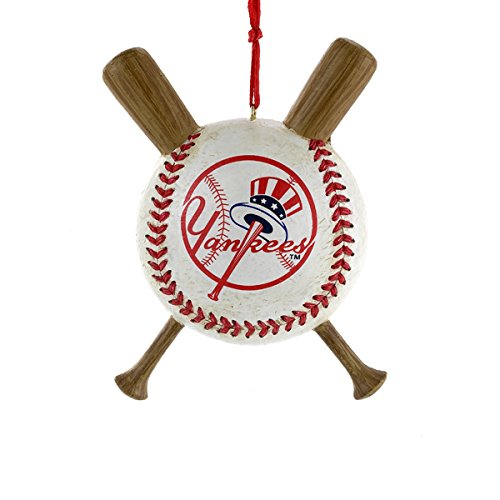Major League Baseball New York Yankees Baseball and Bats Christmas Ornament Ny Yankees Ornaments