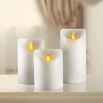 Flameless Led Candles With Realistic Flickering Wick By Red Tulip Decor Set Of 3