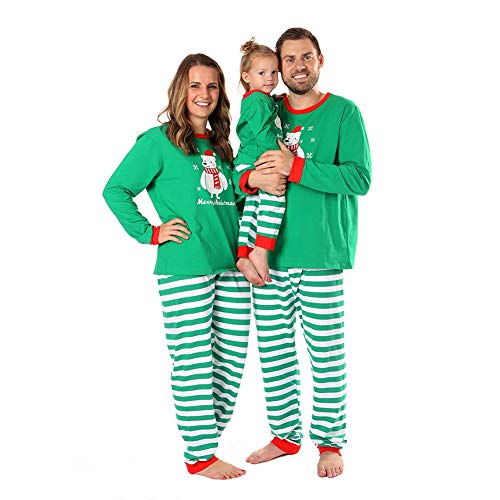 Baywell Christmas Holiday Matching Snowman Printed Pajama Family Clothes Sets (Size M/4-5Y/100, Kids) for $<!--$12.99-->