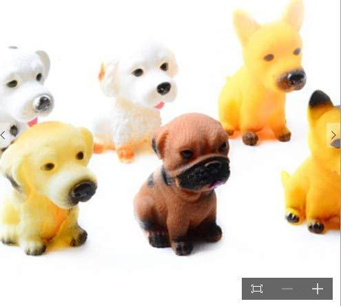 Labu Store 1 pcs Small Size 8CM Mini Screaming Rubber Pet Do