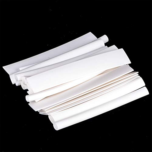 Lhoste 20pcs White Heat Shrink Tube Wire 3:1 4:1 for iPhone Android Data Cable Polyolefin Heat Shrink Tubing Kit Length100mm