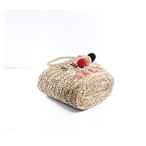 Ragazze Paglia Borsa Donne Ricamo Le Intrecciata Vacanza Tessuta Spiaggia Sling Per Tote Bag Summer Elegante 6wSq5wE
