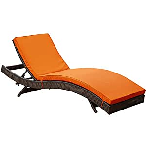 Amazon.com : Modway Peer Outdoor Wicker Chaise Lounge ...