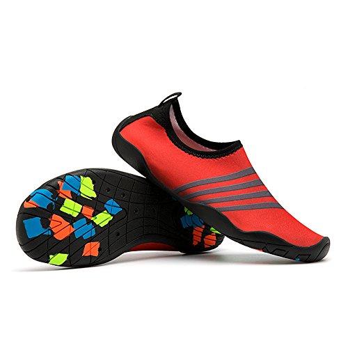 Sport Homme Aquatique Surf Aquatiques Plage Léger Nus Chaussures Rapide Rouge Poids Yooeen Chaussons Yoga Femme Pour Séchage Pieds Natation Enfant De EB4XCq