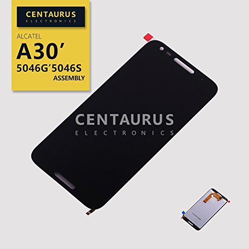 (CENTAURUS Replacement for Assembly Alcatel A30 5046G 5046S 5.0 inch Touch Screen Digitizer LCD Display Glass)