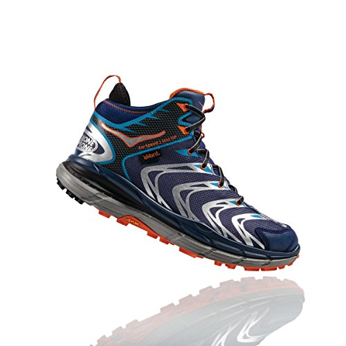 Hoka One One - Tor Speed 2 mid Homme - medieval blue/red orange - 44 2/3