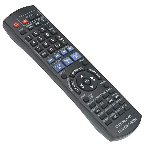 New EUR7662YX0 Replace Remote Control fit for Panasonic DVD Home Theater Sound System SC-PT750 SC-PT753 SC-PT950 SC-PT1050 SC-PT953 SH-FX65T SE-FX65 SE-FX66 SB-HF950 SB-HF1050 SB-HC950 SB-HS950