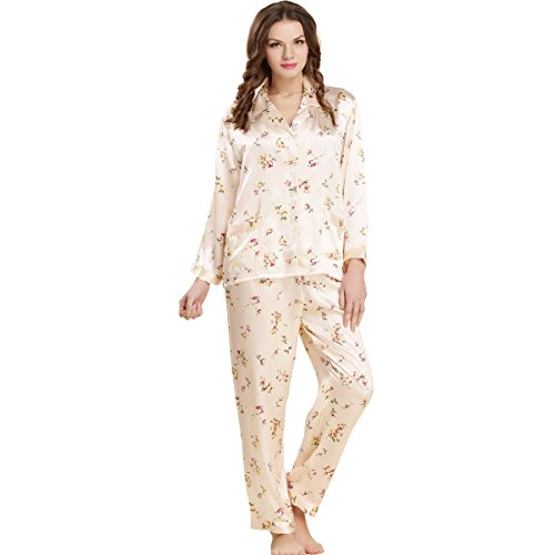 5ed0c9da6f Sleepwear Forever Angel Women s Pure Silk Pajamas Luxury PJs Gift at Amazon  Women s Clothing store