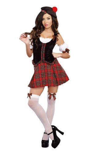 Scottish Costumes (Dreamgirl Women's Scottie Hottie, Multi, Medium)