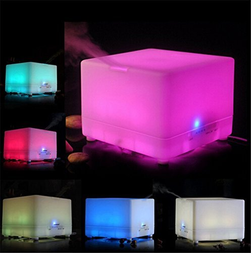700ml Essential Oil Diffuser/Colorful LED Air Purifier/Large Room Humidifier