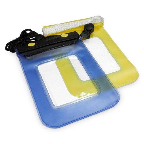 BoxWave Coque pour iPhone 4S iPhone 4S Motif AquaProof BoxWave Étui pochette de transport étanche avec Double Protection des boutons-pressions et Ziploc, avec fenêtre plastique et lanière (Jaune)