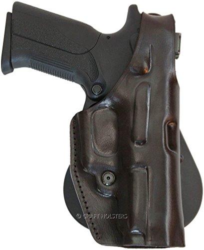 Colt Delta Elite Leather Paddle Holster w Thumb Break
