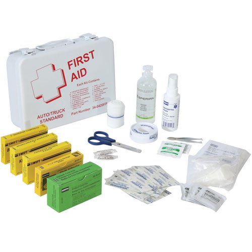 North First Aid Kit   Steel Case Construction   Vehicle   340420Fp  Price Is Per Each