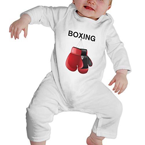 Newborn Baby Red Boxing Gloves Long Sleeve Romper Bodysuit -