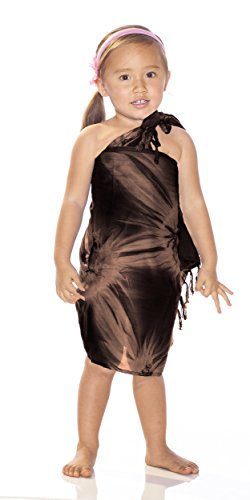 Power Girl Costume Plus Size (1 World Sarongs Girls Smoked Half Sarong in Brown)