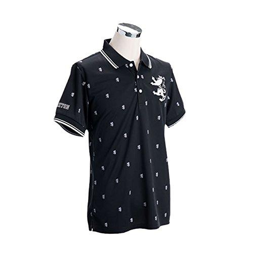 (アドミラルゴルフ) ADMIRAL GOLF ADMA614 メンズ 総柄ランパント ポロシャツ/6カラー