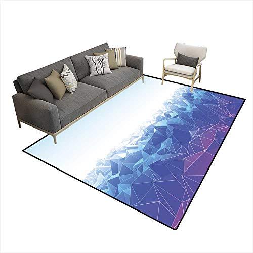 Kids Carpet Playmat Rug Low Poly Landscape -