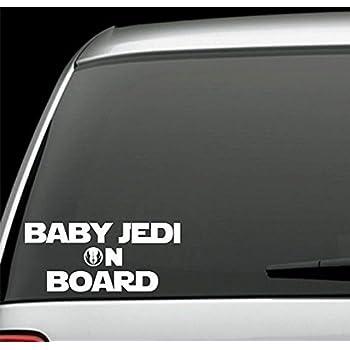 2PK Decal Sticker Inspired By Star Wars. Baby Jedi on Board /& Jedi Logo