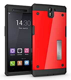 TUDIA OMNIX OnePlus 5 Case Red Full-Body Hybrid Heavy Duty Case with Front Cover and Built-in Screen Protector//Impact Resistant Bumpers for OnePlus 5