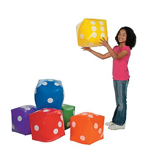 Fun Express - Inflatable Dice - Educational - Teaching Aids - Math - 6 Pieces
