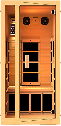 JNH Lifestyles Joyous 1 Person Far Infrared Sauna 6 Carbon Fiber Heaters, 5 Year Warranty by JNH Lifestyles