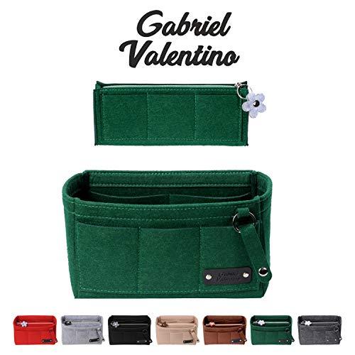 Purse Organizer Insert | Felt Insert Handbag Organizer For Women Bag | Bag Organizer Insert With Multi Storage Options | Fits Neverfull - Speedy & Tote Bags | Green |