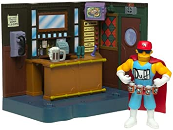 The Simpsons Exclusive Playset Moes Bar with Duffman by Simpsons ...