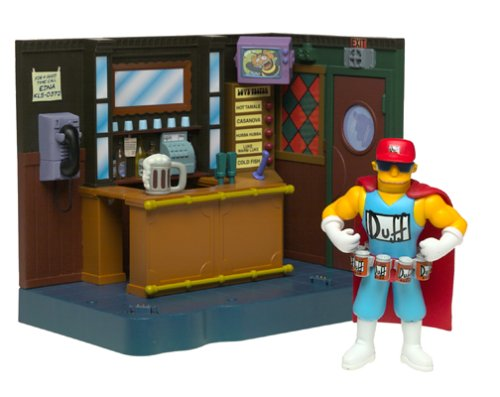 The Simpsons Exclusive Playset Moe's Bar with Duffman]()
