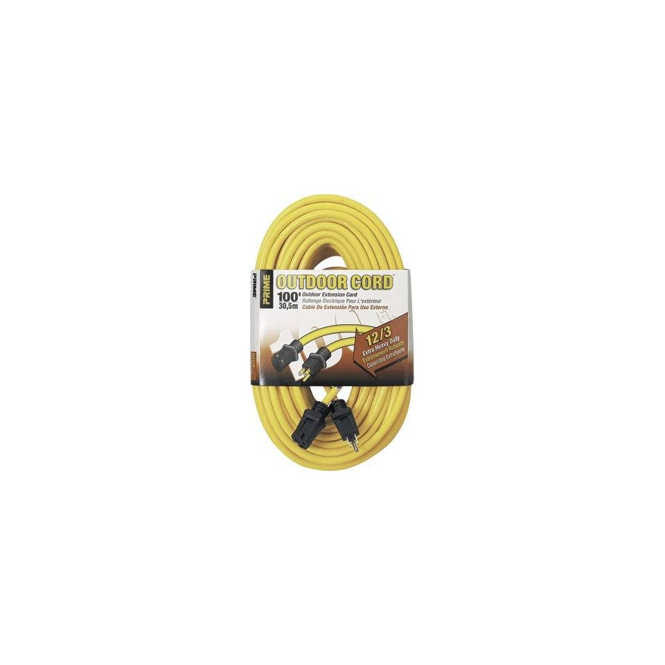 Prime Wire & Cable 125 Volt Outdoor Extension Cord   100Ft.