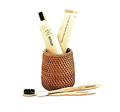 |New Improved Design| High Quality Bamboo Toothbrush for Adults (Pack of 4)- Charcoal and BPA Free Bristles - Biodegradable & Sustainably Grown Handles |Vegan Product| 100% Eco-Friendly