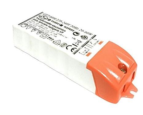 Transformador 220V - 12V De 20 - 60W Para Lámparas Halógenas y De Led